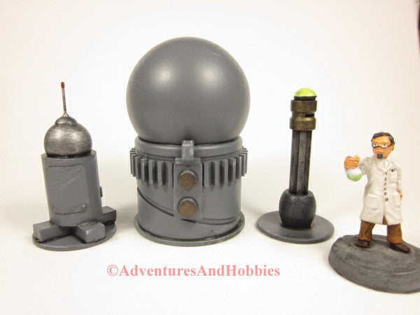 Miniature Game Terrain Mad Science Set of 3 SL07 Lab Industrial 25-28mm Scenery40K