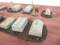 Wargame Terrain Graveyard Set of 7 Pieces SL110 Fantasy Horror Miniature Graves