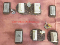 Wargame Terrain Graveyard Set of 6 Pieces SL111 Fantasy Horror Miniature Graves