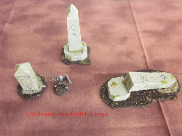 Wargame Terrain Monuments Set of 3 Pieces SL112 Fantasy Horror