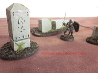Wargame Terrain Monuments Set of 3 Pieces SL113 Fantasy Horror