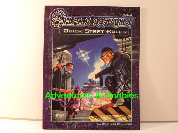 Shadowrun Quick Start Rules FASA 1999 OOP JC