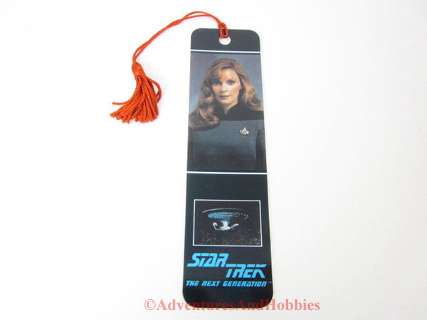 Star Trek TNG Next Generation Dr. Beverly Crusher Tasseled Bookmark 1992