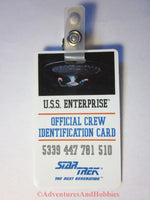 Star Trek TNG USS Enterprise Official Crew Identification Card ID Badge