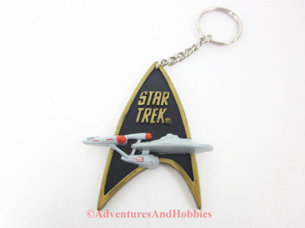 Star Trek Classic Enterprise NCC 1701 Logo Key Chain 1991 Rubber Keychain
