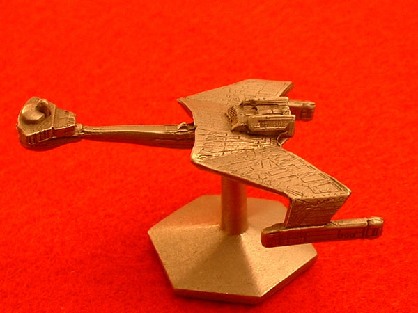 Star Trek Klingon Battle Cruiser Pewter Starship OOP EB