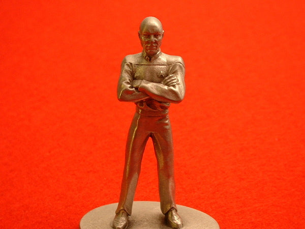 Star Trek TNG Captain Jean-Luc Picard Large Pewter Figure EB