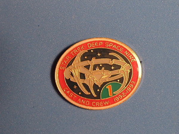Star Trek Pin Deep Space Nine 1992-1993 Cast & Crew Hollywood Pins Metal