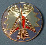 Star Trek Pin Romulan Crest 1985 Hollywood Pins Cloisonne Metal