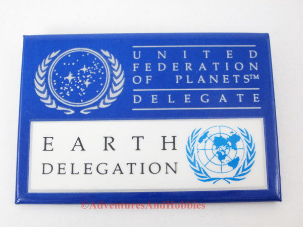 Star Trek Earth Delegate badge United Federation of Planets.