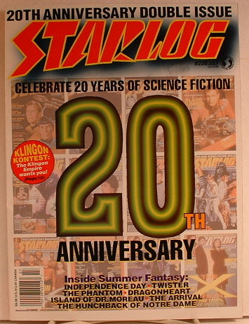 Starlog 20th Anniversary Edition Double Sci Fi Issue Magazine EB