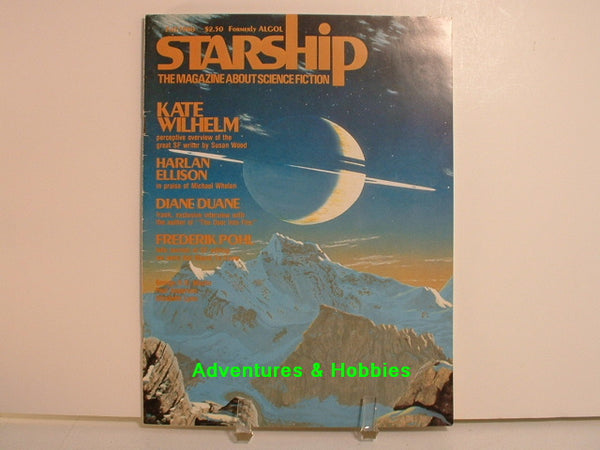 Starship #40 Fall 1980 Science Fiction Ellison Pohl Magazine B8