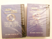 Star Trek:TNG CCG Unlimited Starter Decks Lot of 2 Sealed AB Decipher