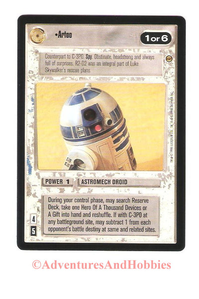Star Wars CCG Artoo 112 Jabba's Palace Trading Card