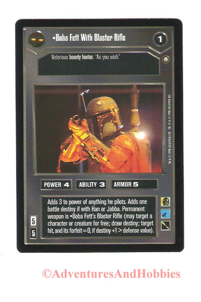 Star Wars CCG Boba Fett With Blaster Rifle 108 Enhanced Premiere Trading Card