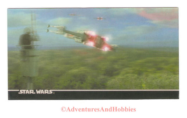 Star Wars Trilogy Special Edition 1997 Topps Widevision 3-D box topper chase card.