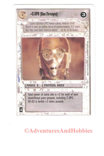 Star Wars CCG C-3PO See-Threepio 105 Unlimited Trading Card