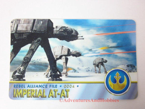 Star Wars Imperial AT-AT Rebel Alliance File 0004 Technical Data Wallet Card