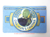 Star Wars Mos Eisley Chalmun's Cantina Gold Card Prop Cosplay Costume 1996