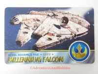 Star Wars Millennium Falcon Rebel Alliance File 0002 Technical Data Wallet Card