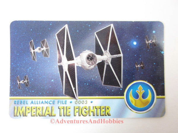 Star Wars Imperial TIE Fighter Rebel Alliance File 0003 Technical Data Card 1996