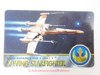 Star Wars X-Wing Starfighter Rebel Alliance File 0001 Technical Data Card 1995