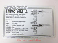 Star Wars X-Wing Starfighter Rebel Alliance File 0001 Technical Data Card 1995 BQ-D