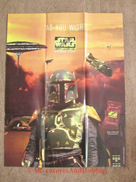 Star Wars CCG Cloud City Boba Fett Promo Poster 25x33 Decipher