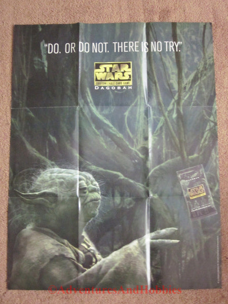 Star Wars CCG Dagobah Yoda Promo Poster 25x33 Decipher Card Game BS