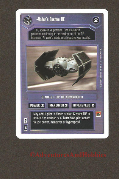 Star Wars Vader's Custom TIE 115 Unlimited Trading Card