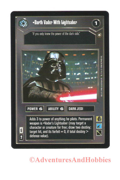 Star Wars CCG Darth Vader With Lightsaber 106 Enhanced Premiere Trading Card