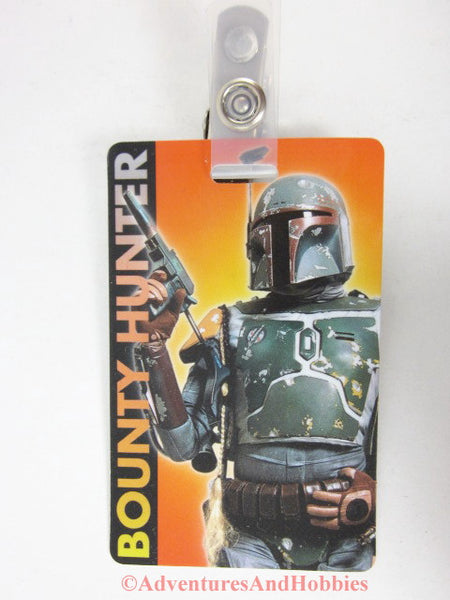 Star Wars Boba Fett Bounty Hunter License Identification Card ID Badge with clip