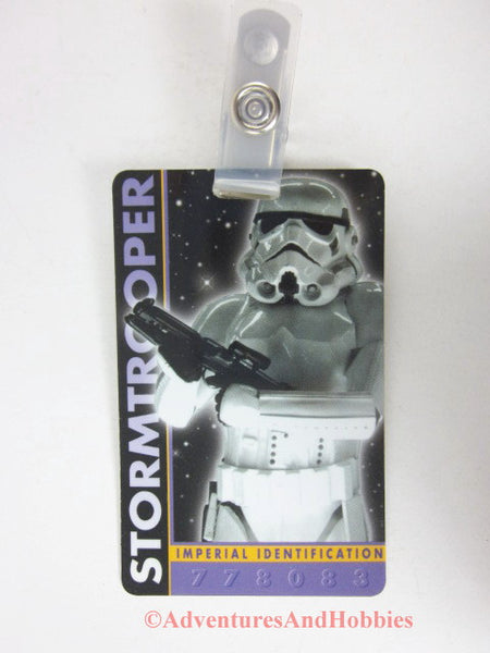 Star Wars Imperial Stormtrooper Identification Card ID Badge Costume 1996