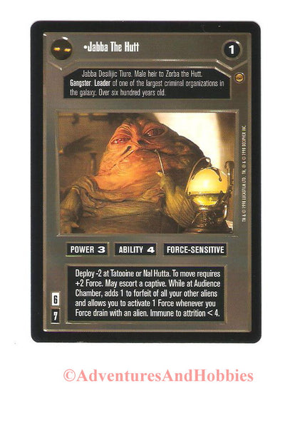 Star Wars CCG Jabba The Hutt 109 Jabba's Palace Trading Card