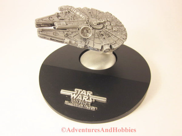 Star Wars Pewter Han Solo's Millennium Falcon LARGE Limited Ed fb