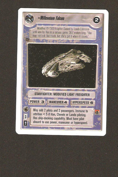 Star Wars CCG Millennium Falcon 100 unlimted white border.
