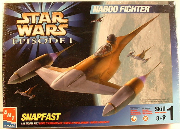 Star Wars 1:48 Naboo Fighter Snap Plastic Model Kit AMT Ertl 30117 Sealed New CN