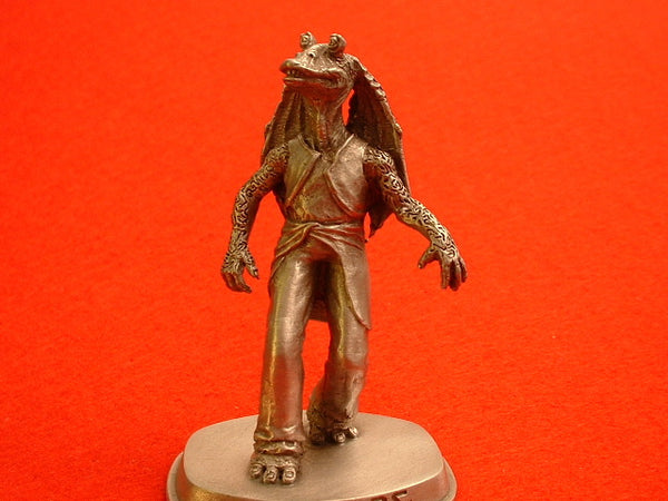 Star Wars 1 Phantom Menace Jar Jar Binks Pewter Mini Figure Rawcliffe OOP EB