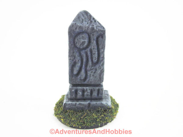 Wargame Terrain Small Stone Marker Call of Cthulhu T1400 Horror Scenery 40K