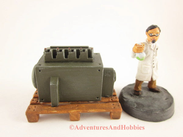 Industrial Wargame Terrain Mad Science T1479 Laboratory Pallet 25-28mm 40K