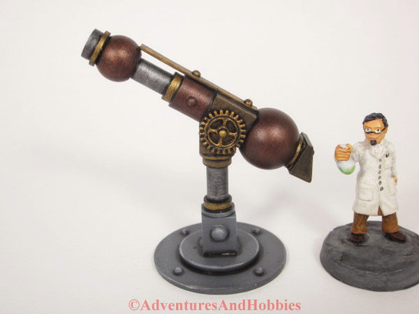 Miniature Telescope Wargame Scenery Mad Science Steampunk Lab T1484 25-28mm