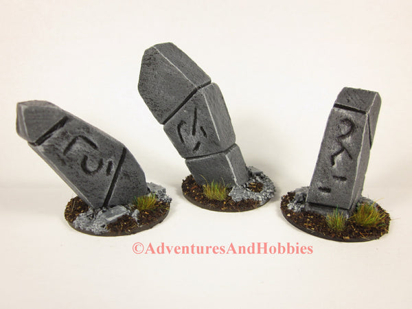 Wargame Terrain Monument Stones Set of 3 T1496 Fantasy Horror Scenery 40K