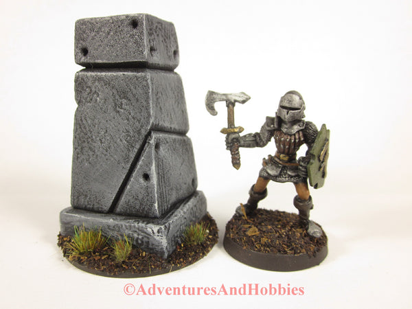 Miniature Small Stone Monument T1497 Fantasy Horror Scenery D&D 40K