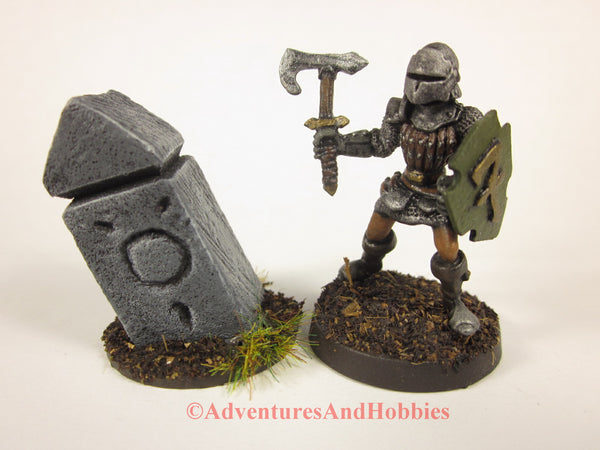 Wargame Terrain Small Stone Monument T1500 Fantasy Horror Scenery D&D 40K