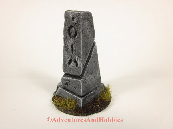 Wargame Terrain Small Stone Monument T1501 Fantasy Horror Scenery D&D 40K