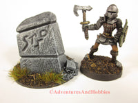 Wargame Terrain Small Stone Monument T1503 Fantasy Horror Scenery D&D 40K