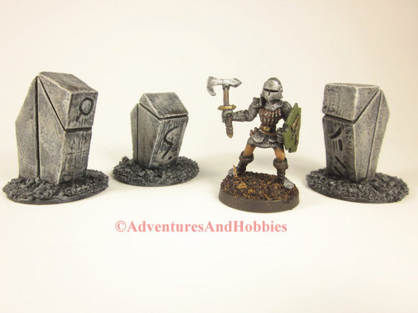 Wargame Terrain Monument Stones Set of 3 T1513 Fantasy D&D Horror Scenery 40K
