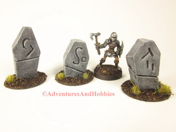 Wargame Terrain Monument Stones Set of 3 Call of Cthulhu T1514 Fantasy Scenery 40K