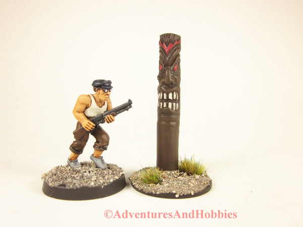 Tiki Totem God of War scenery piece for 25-28mm scale miniatures games.