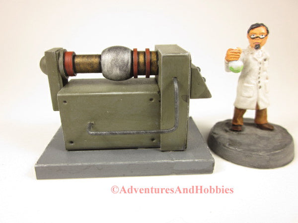 Miniature wargame scenery mad science lab industrial equipment T1526.